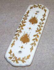 Ancienne plaque de propreté, porcelaine : décor Abeille style Empire