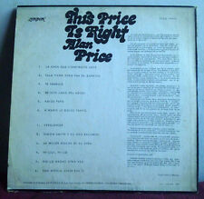 ALAN PRICE This price is right URUGUAY UNIQUE BACK & LINER NOTES The Animals*