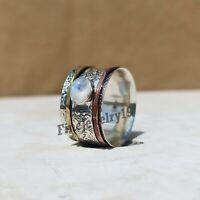 Moonstone Ring 925 Sterling Silver Ring Spinner Ring Meditation Ring Jewelry Z46