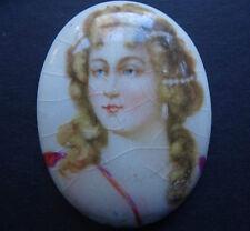 Antico Vittoriano Porcellana Portrait Lady PITTURA Cabochon gioielli di ricambio K841