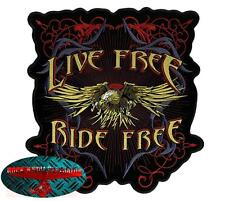 EAGLE RIDE FREE INDIETRO Patch Toppa MOTOCICLISTA Rocker Aquila Harley USA