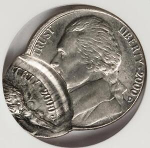 2000 D ANACS MS63 Double Struck Double Date Mint Error Great Eye Appeal