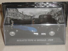 BUGATTI TYPE 41 ROYAL 1929 IN BLACK & BLUE on blister pack, mag part works.GE17