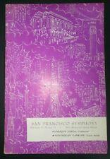 San Fransisco Symphony Feb 1955 War Memorial Opera House Ventsislav Yankoff