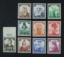 CKStamps: Germany Stamps Collection Scott#B69-B78 Mint H OG