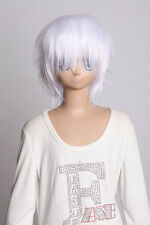 W-01-1001 blanc white court 35cm cosplay perruque wig perruque cheveux anime manga