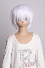 W-01-1001 weiß white kurz 35cm COSPLAY Perücke WIG Perruque Haare Anime Manga