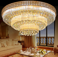 Modern K9 Crystal Chandelier Ceiling Fixtures Home Lighting Lamps Decor w/Remote