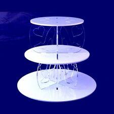 trois niveaux Talons Hauts & coeur transparent piliers Rond Présentoir Gâteau -