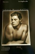 Rare George Hurrell Signed Johnny Weissmuller #/500 Tarzan Olympic Poster 22x32