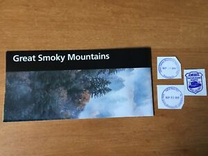 Great Smoky Mountains National Park Unigrid Brochure Map and Passport stamps