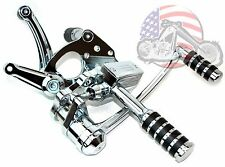 DNA Chrome Iso Peg Forward Foot Controls 1984-1999 Softail Custom Chopper Harley