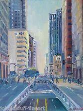 Grand Ave Los Angeles  Impressionism Cityscape John Kilduff