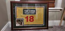 Tiger Woods Autographed Open Championship Signed Flag Custom Framed