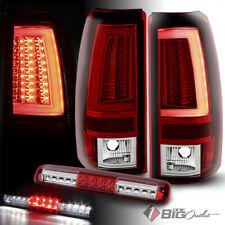 For 03-06 Silverado/Sierra R/C Fiber-Optic-Tube LED Tail Lights + LED 3rd Brake