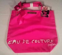 Brand NEW Juicy Couture Pink Eau De Couture Cosmetics Tote Bag & Charms
