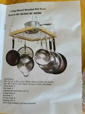 New listing Cooks Standard Ceiling Mounted Wooden Pot Rack 24x18
