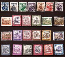 PR 161 AUTRICHE 25 timbres oblitérés serie d'usages courants