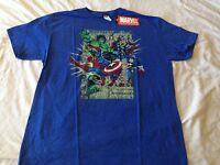 Marvel Comics Avengers Team Up Super Hero Thor Hulk Capt America Retro T Shirt