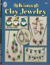Kim's Clay Jewelry Kim Lasky Polymer Clay Craft Book BRAND NEW OOP