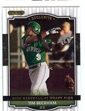 TIM BECKHAM 2008 Razor #1 Draft Pick Promo TB-3P Tampa Bay Rays