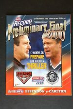 2000 Essendon vs Carlton 1st Preliminary final football record footy