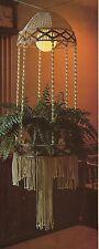 """large lighted macrame hanging table lamp hanger pattern step four book <ne translation=""""$prodspec"""" entity=""""s4"""">$prodspec</ne> vtg"""
