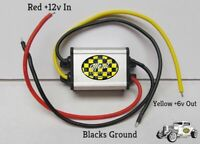 Gauge Voltage Reducer 12 volts to 6 volts Oil Gas Temp Gauges 1 UNIT RUNS ALL 3A