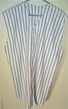 Sleeveless Pinstripe Baseball Jersey - White/ Black Size 2Xl Very Good Condition