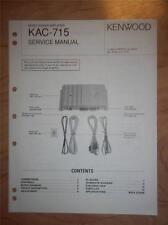 Kenwood Service Manual~KAC-715 Amplifier~Car/Auto~Original Repair Manual