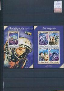 XC52990 Sao Tome e Principe 2013 astronaut rocket sheets MNH cv 29 EUR