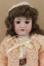"24"" German Composition Heinrich Handwerck Simon Halbig Doll Antique Bisque Head"