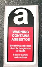 Roll of 250 Asbestos warning labels / Stickers 50mm x 100mm FREE P&P