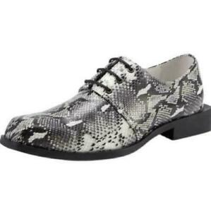 Occident Men Real Leather Business Shoes Snakeskin Pattern Oxfords Square Toe MO