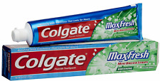 Colgate Max Fresh Toothpaste with Mini Breath Strips Clean Mint 6 Oz Gluten Free