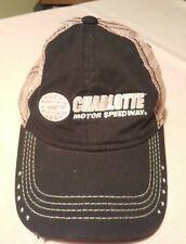 Charlotte Motor Speedway Pink Hat - Mesh Women's Racing Cap Rhinestones NASCAR