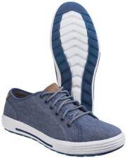 Zapatos informales de hombre Skechers color principal azul de lona