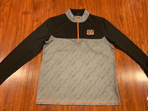 Men's Cincinnati Bengals Football 1/2 Zip Pullover Jacket Extra Large XL NFL