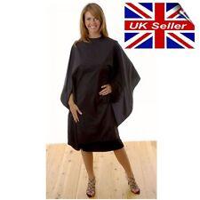 Hair Tools Black Crinkle Salon Hairdressing Cape Gown Black Hook Fastening UK28