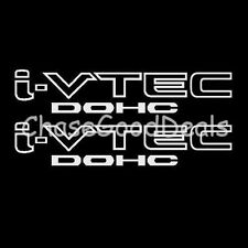 WHITE I-VTEC DOHC STICKER X2 DECAL EMBLEM CIVIC S2000 ACCORD JDM IMPORT ILLEST