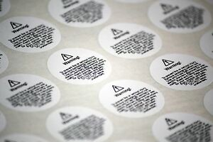 Wax melt usage safety stickers - electric warmer wording (small and medium)