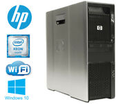 HP Z600 workstation Xeon 2X X5570 2.93GHz 8cores 12GB 120GB SSD+1TB WIFI WIN10
