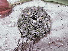 Elegant Mini-Rosen Kerzen Kranz Hochzeit Auto- Kirche- Stuhl-Kutsche Silber