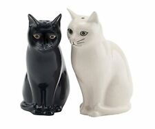More details for quail ceramics cat salt and pepper pot shakers black and white daisy and lucky
