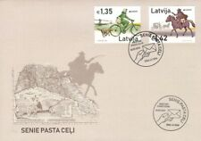 Latvia 2020 (05) Europe - Old Post Roads - Bicycle - Horse (unaddressed FDC)