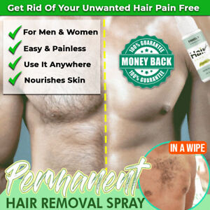 NEW HAIR REMOVAL SPRAY INHIBITOR NATURAL SAFE PAINLESS HAIR REMOVAL SHRINK PORES