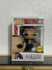 Funko Pop Wwe #46 The Rock (Black Jacket) 2017 Chase Edition W/ Protector