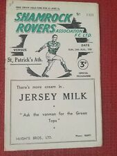 Shamrock Rovers v St Patrick's Athletic Programme, 24th August 1958