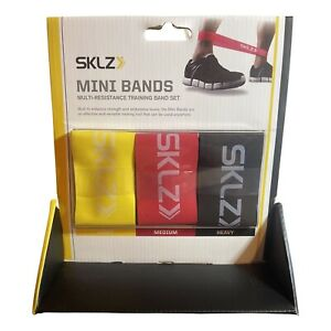 SKLZ Resistance Training Mini Bands 3-Pack - Multi-Colored Black Red Yellow NWT