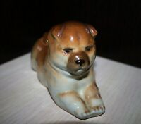 PORCELAIN FIGURINE DOG PUPPY CHOW CHOW. LFZ OF THE USSR.